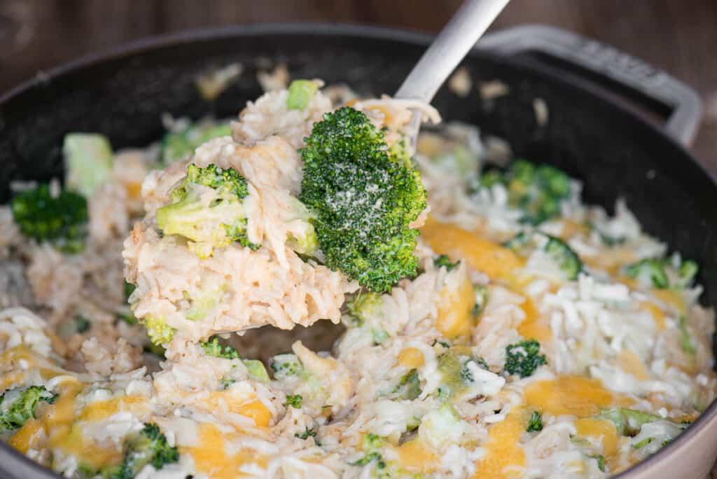Broccoli Rice Casserole with fresh broccoli