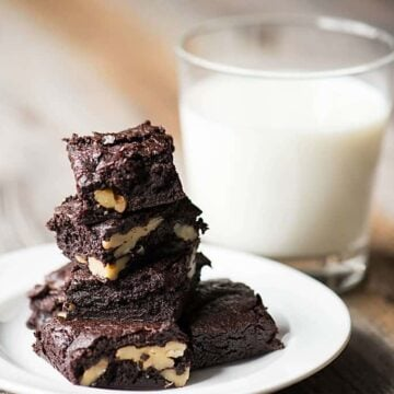 Intensely rich and delicious, yet incredibly simple to make, Brown Butter Brownies. These are the by far the most decadent and naughty brownies EVER.