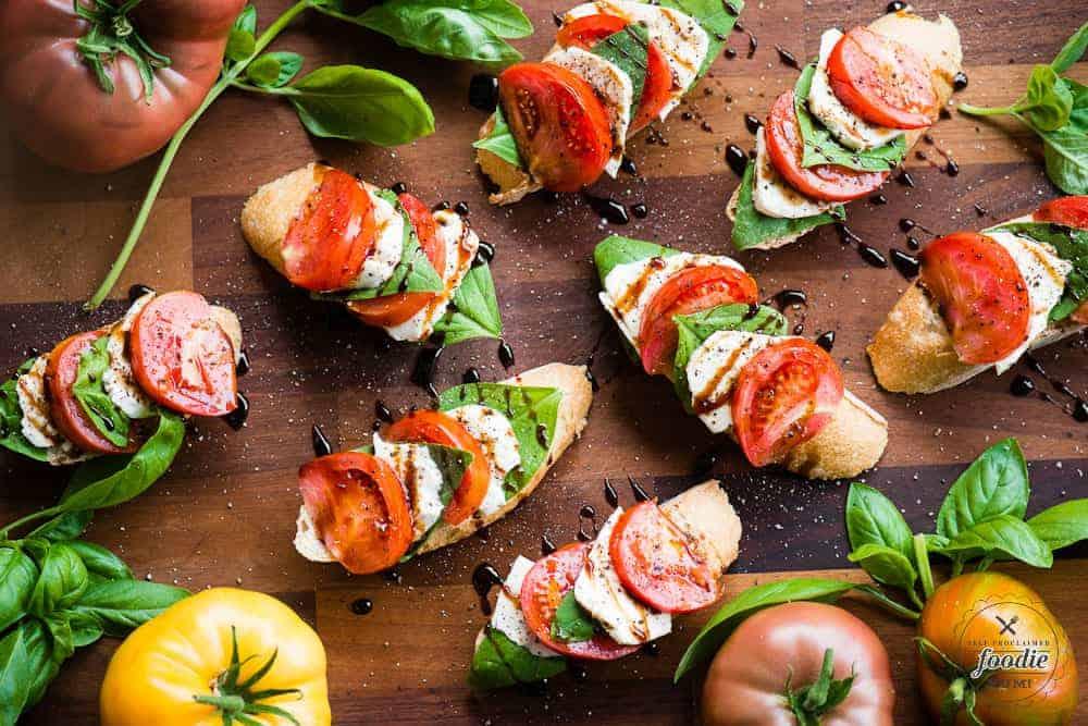 Italian Caprese Bruschetta | Self Proclaimed Foodie