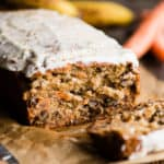 Carrot Cake Banana Bread with nuts