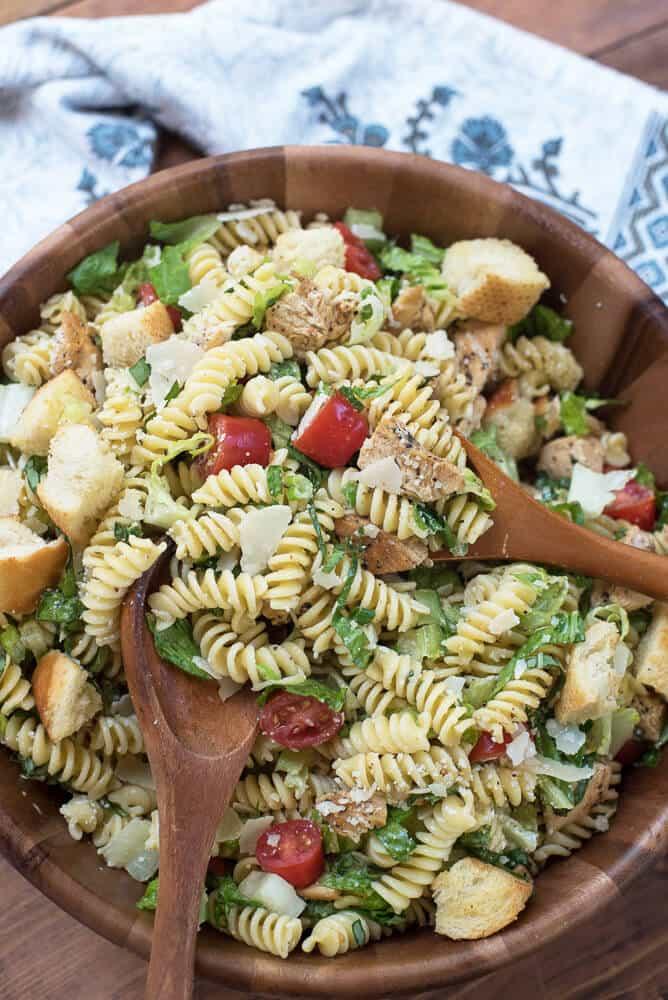 Chicken Caesar Pasta Salad   From Valerie's Kitchen