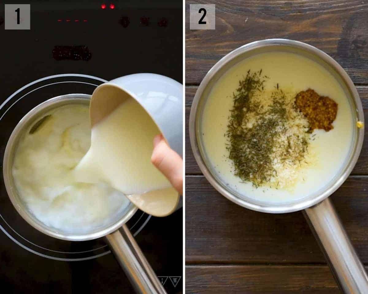 how to make dijon cream sauce to serve over chicken