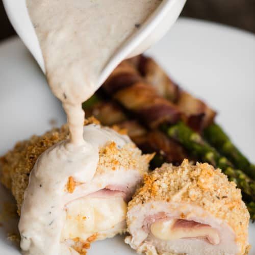 Chicken Cordon Bleu With Dijon Cream Sauce Self Proclaimed Foodie