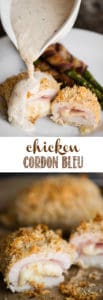 Chicken Cordon Bleu recipe with sauce