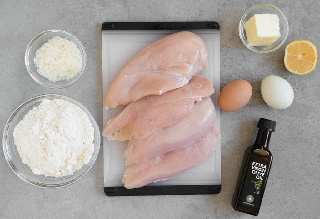 ingredients to fry breaded boneless chicken breasts