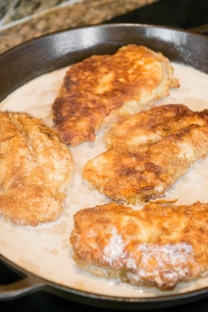 breaded chicken breasts with lemon wine butter sauce