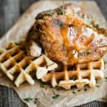 How to make Chicken and Waffles with syrup