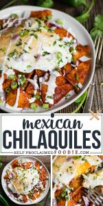 Mexican Chilaquiles recipe with fried eggs
