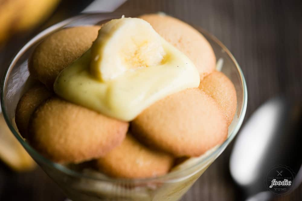 Classic Banana Pudding with vanilla wafers, banana, vanilla pudding