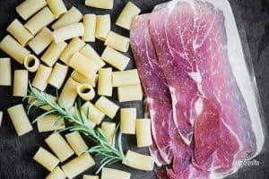 prosciutto and pasta