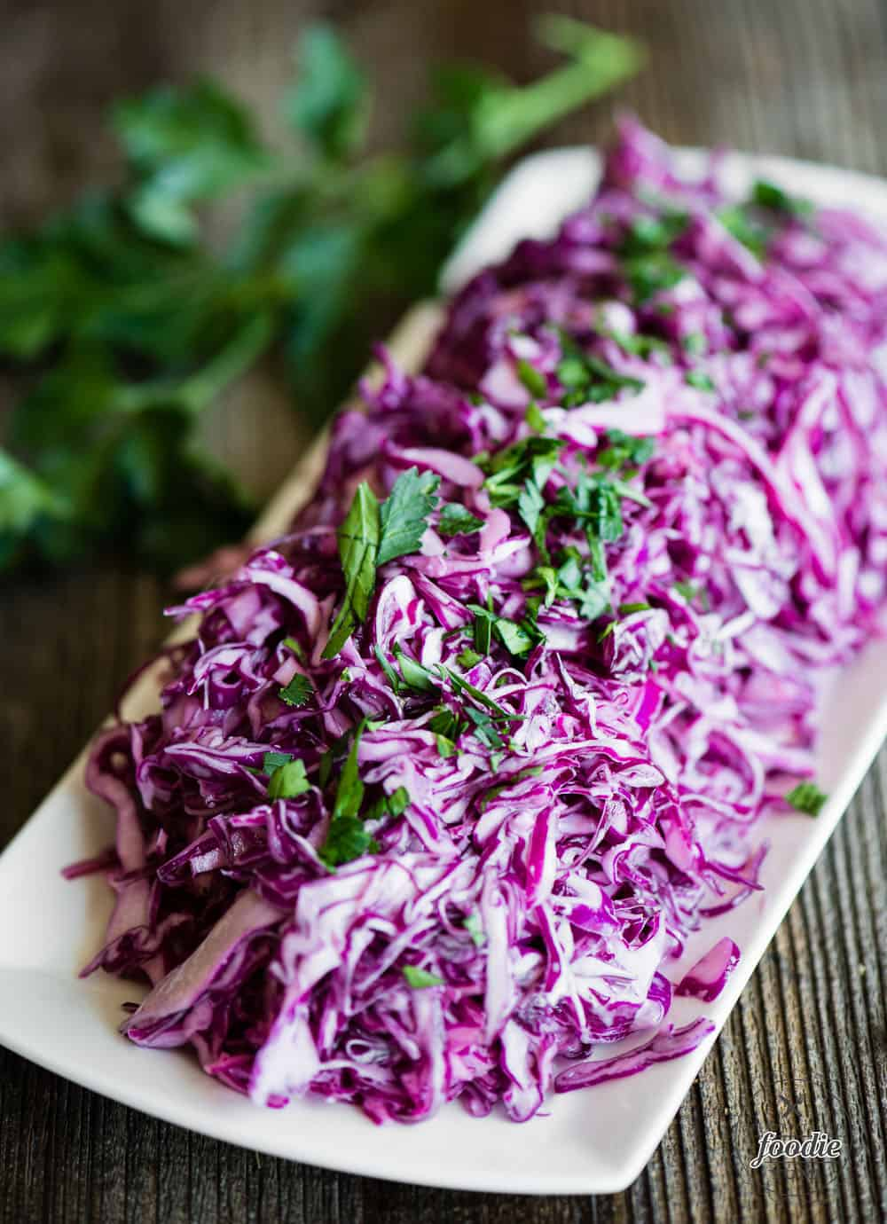 Purple cabbage Creamy Vegan Coleslaw