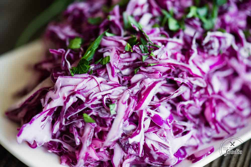 How to make Creamy Vegan Coleslaw without eggs or dairy