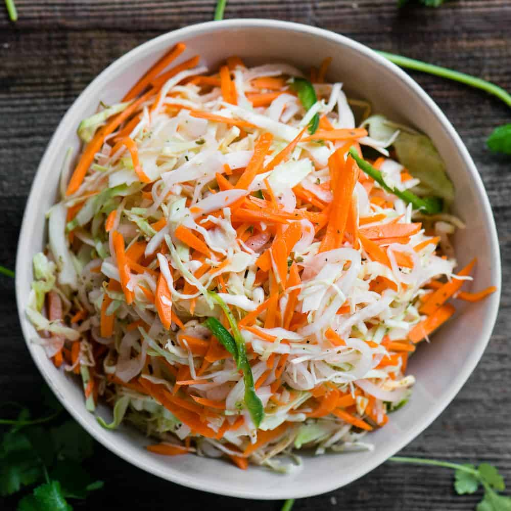Curtido cabbage slaw for pupusas