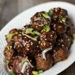 If you're looking for the perfect appetizer or even a tasty dinner option, these crowd pleasing Easy Teriyaki Meatballs cook up in no time!