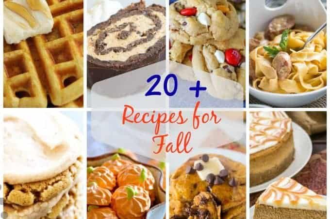 From apples to pumpkins to dark leafy greens, fall is everyone's favorite time to cook, so I'm sharing more than 20 Perfect Fall Recipes!