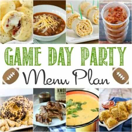 Superbowl Party Menu Plan