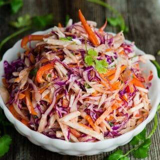 colorful and healthy jicama slaw recipe