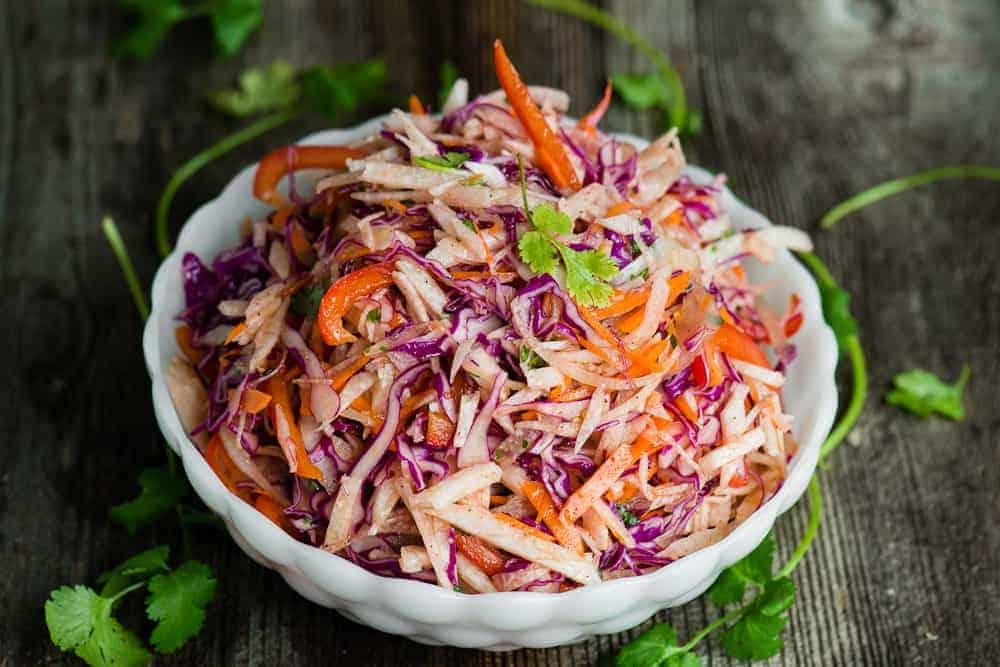 Healthy Vegan Jicama Slaw Recipe | Self Proclaimed Foodie