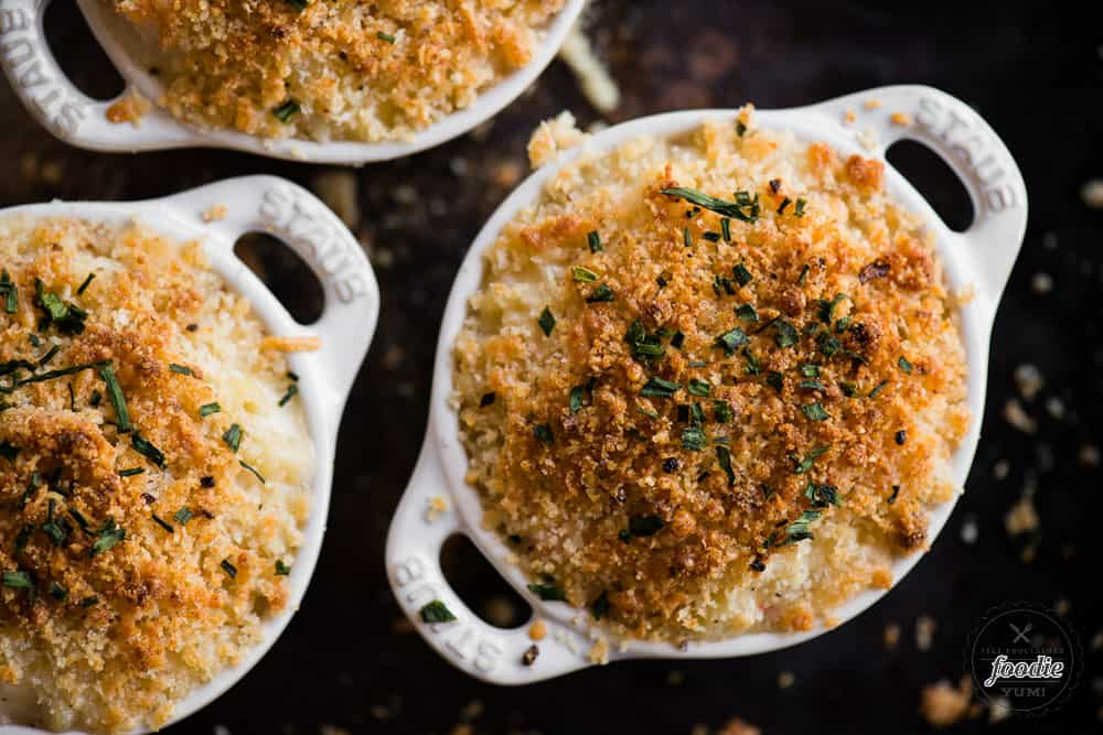Lobster Mac and Cheese with a crunchy crumb topping