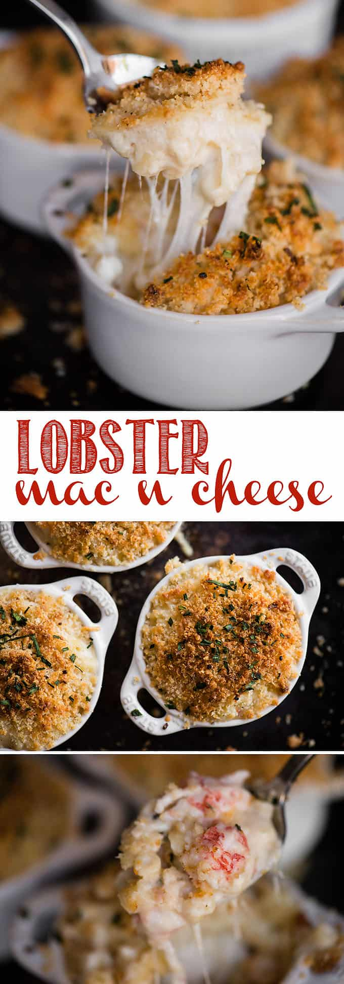 Lobster Mac and Cheese, with succulent pieces of wild caught fresh water lobster, is possibly the best macaroni and cheese recipe you'll find! #lobstermacncheese #lobster #langostino #macncheese #cheddar #gruyere #lobstermacandcheese #easylobstermacandcheese #lobstermacandcheeserecipe #gruyerelobstermacandcheese #bestlobstermacandcheese #bakedlobstermacandcheese #creamylobstermacandcheese