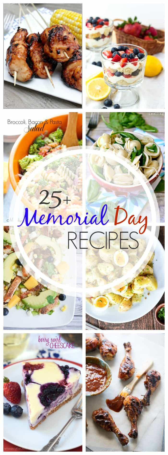 The best way to start the official start of summer is with food, of course! I've got More Than 25 Recipes Perfect for Memorial Day you will surely love.