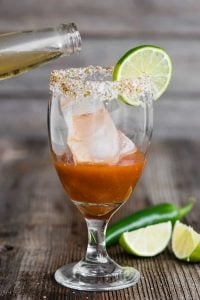 Add Mexican beer to Michelada mix