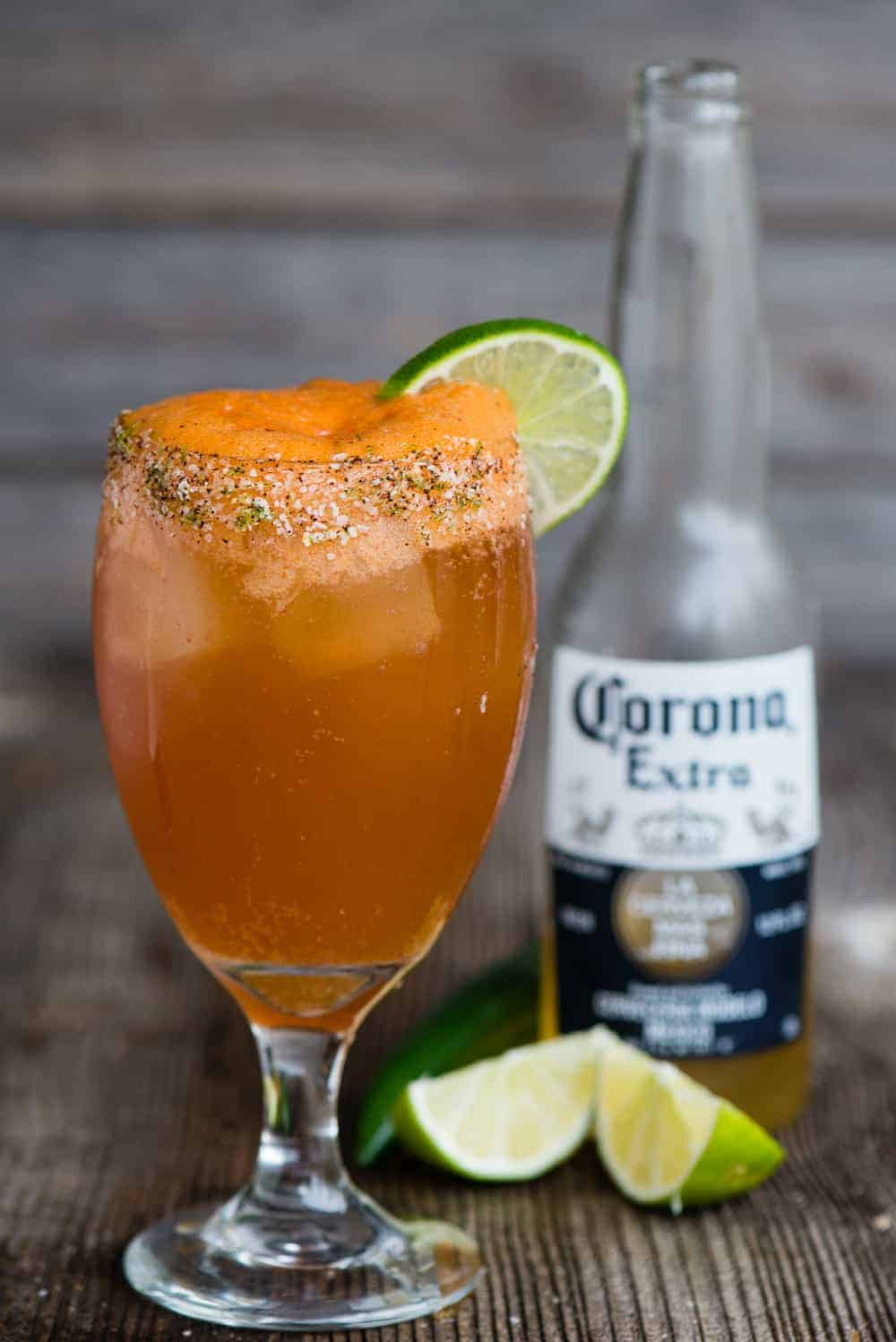 Michelada recipe with hot sauce and lime