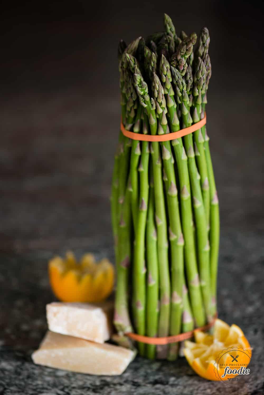 Fresh asparagus, lemon, and parmesan