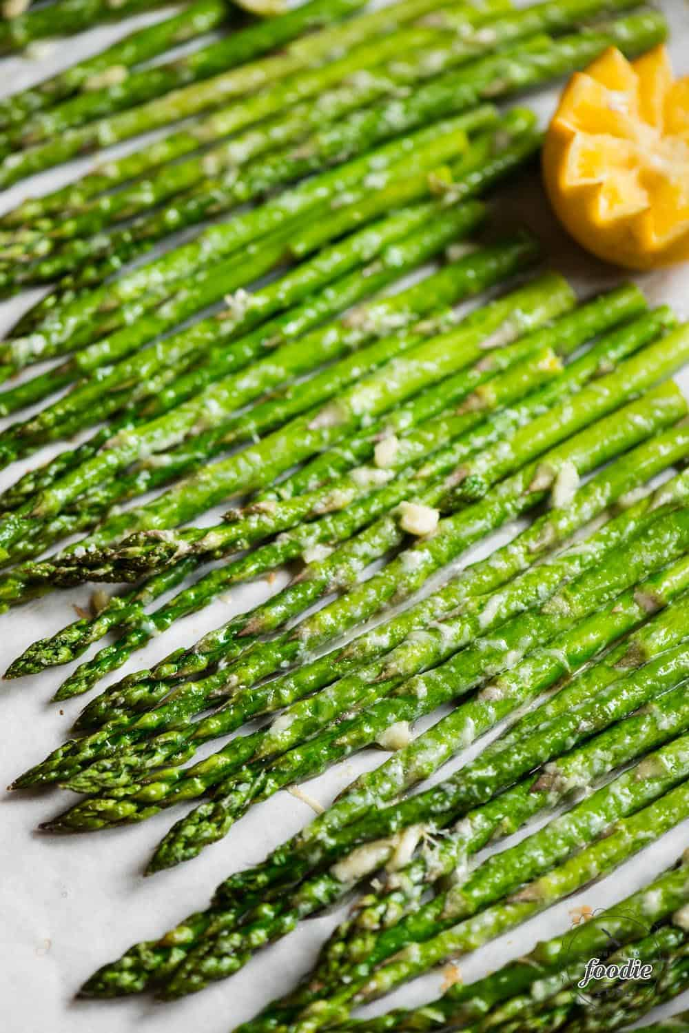 Garlic Parmesan Roasted Asparagus baked in oven