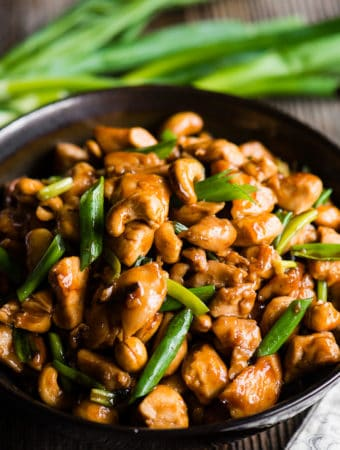How to make Cashew Chicken with green onions