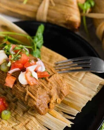 how to make homemade pork tamales with pork shoulder roast in the instant pot