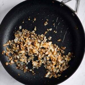 sauteed white onions