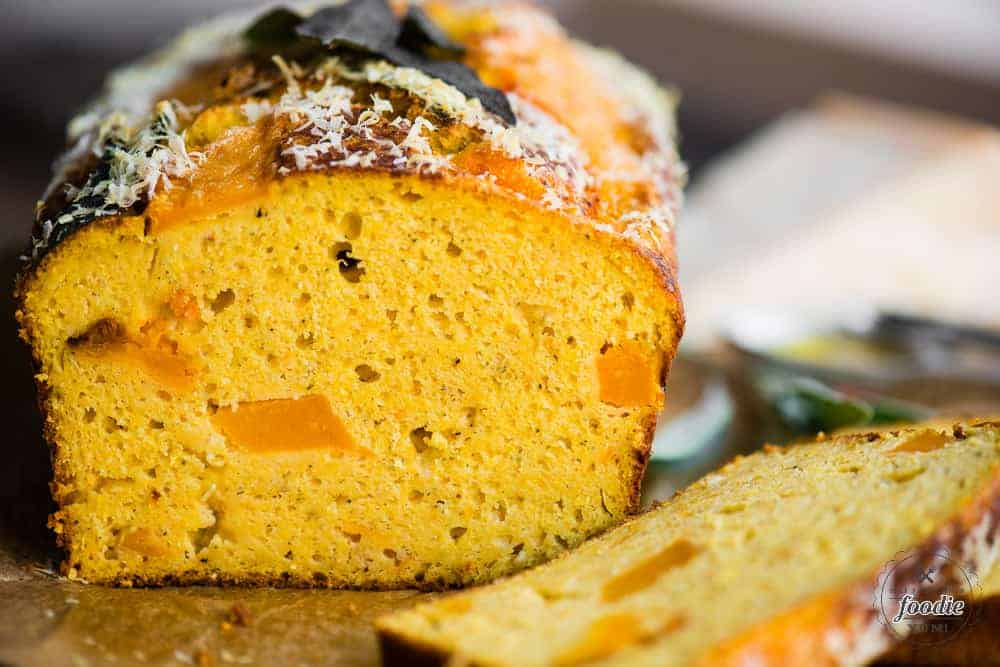 A close up butternut squash cake