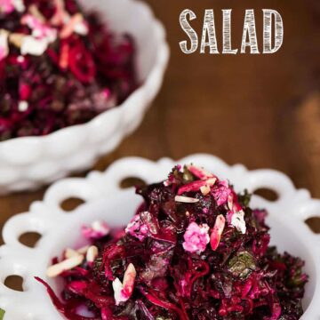 shredded beet and kale salad