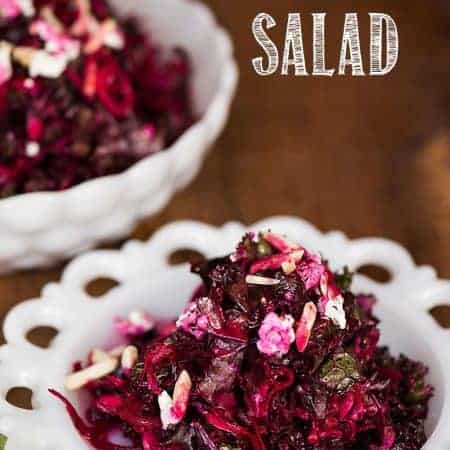 shredded beet and kale salad