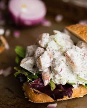 How to make a Shrimp Salad sandwich