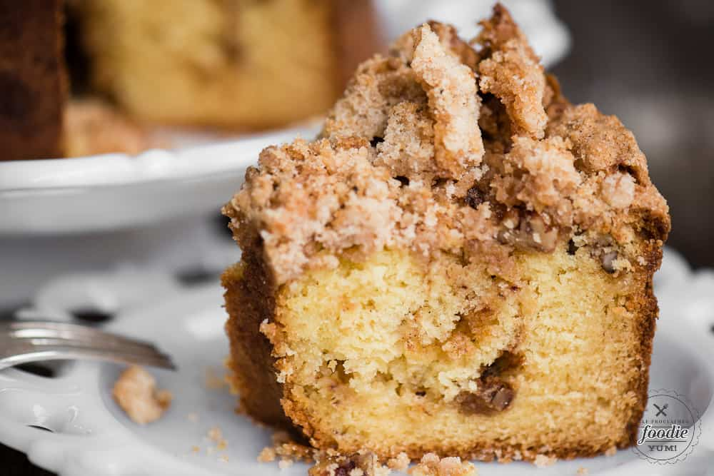 Sour Cream Coffee Cake with streusel topping recipe