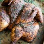 Spatchock Smoked Chicken recipe