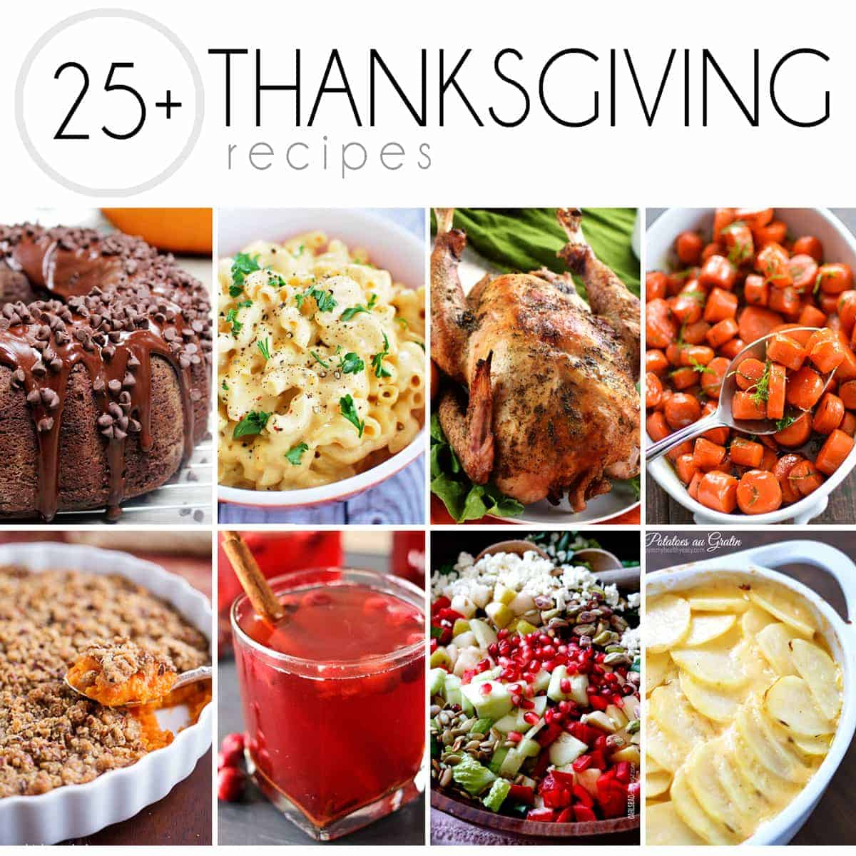 From side dishes, to drinks, to desserts, to the turkey, I've got everything you need in this 25+ Thanksgiving Recipes post to create an amazing dinner.