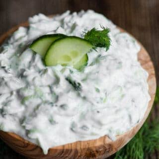 bowl of homemade Tzatziki sauce