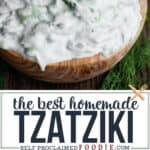how to make the best homemade Tzatziki sauce recipe with greek yogurt