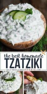 how to make the best homemade Tzatziki sauce recipe with greek yogurt