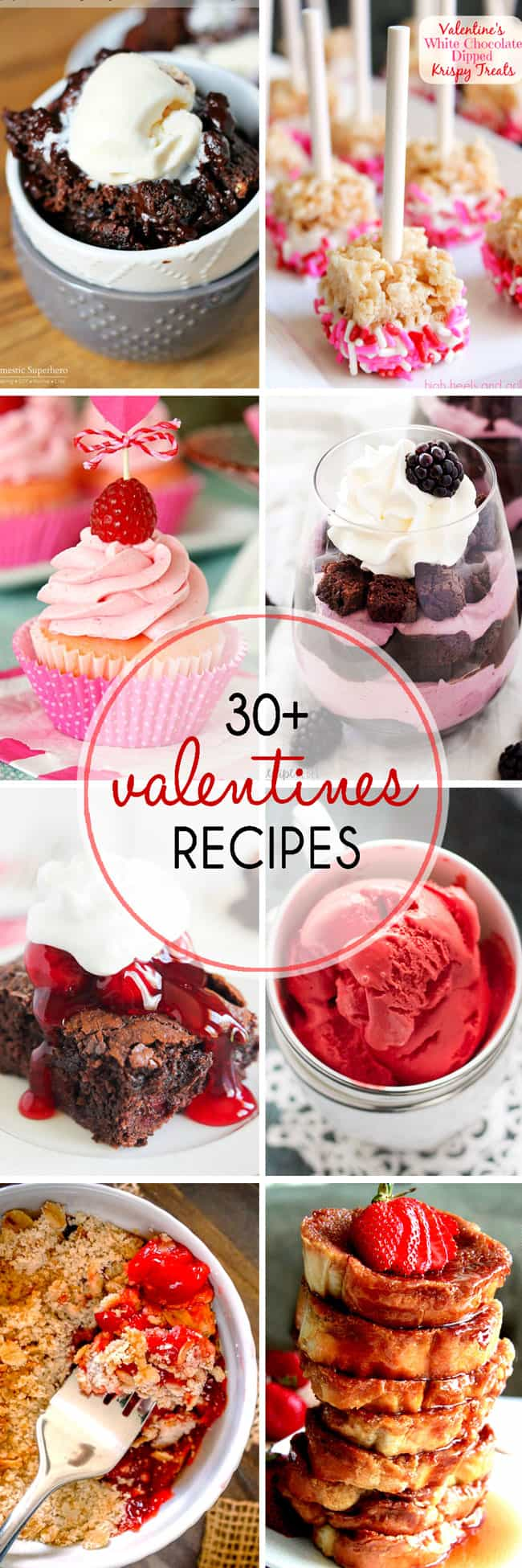 I've rounded up 30+ Valentines Recipes that are both romantic and delicious. They are the perfect way to feed your loved ones this holiday.