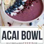 Easy healthy vegan acai bowl recipe