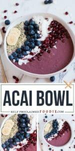 Easy healthy vegan acai bowl recipe