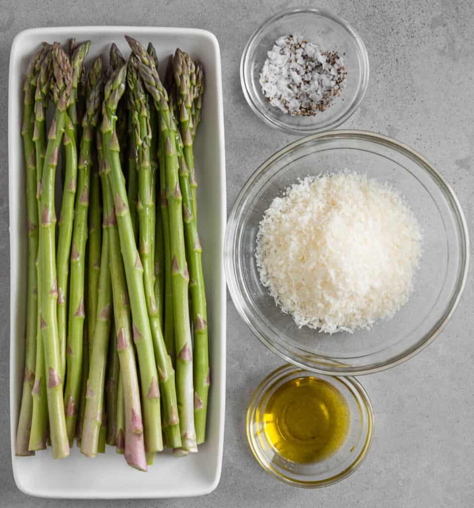 ingredients used to make Air Fryer Asparagus