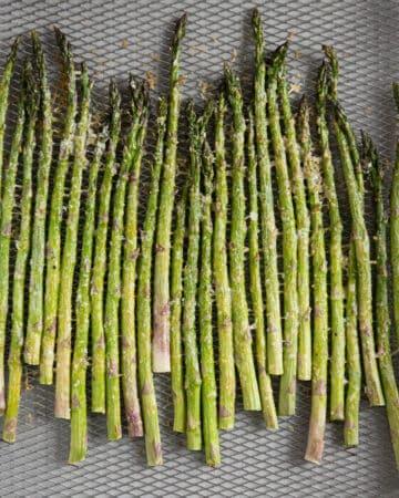 Air Fryer Asparagus with parmesan