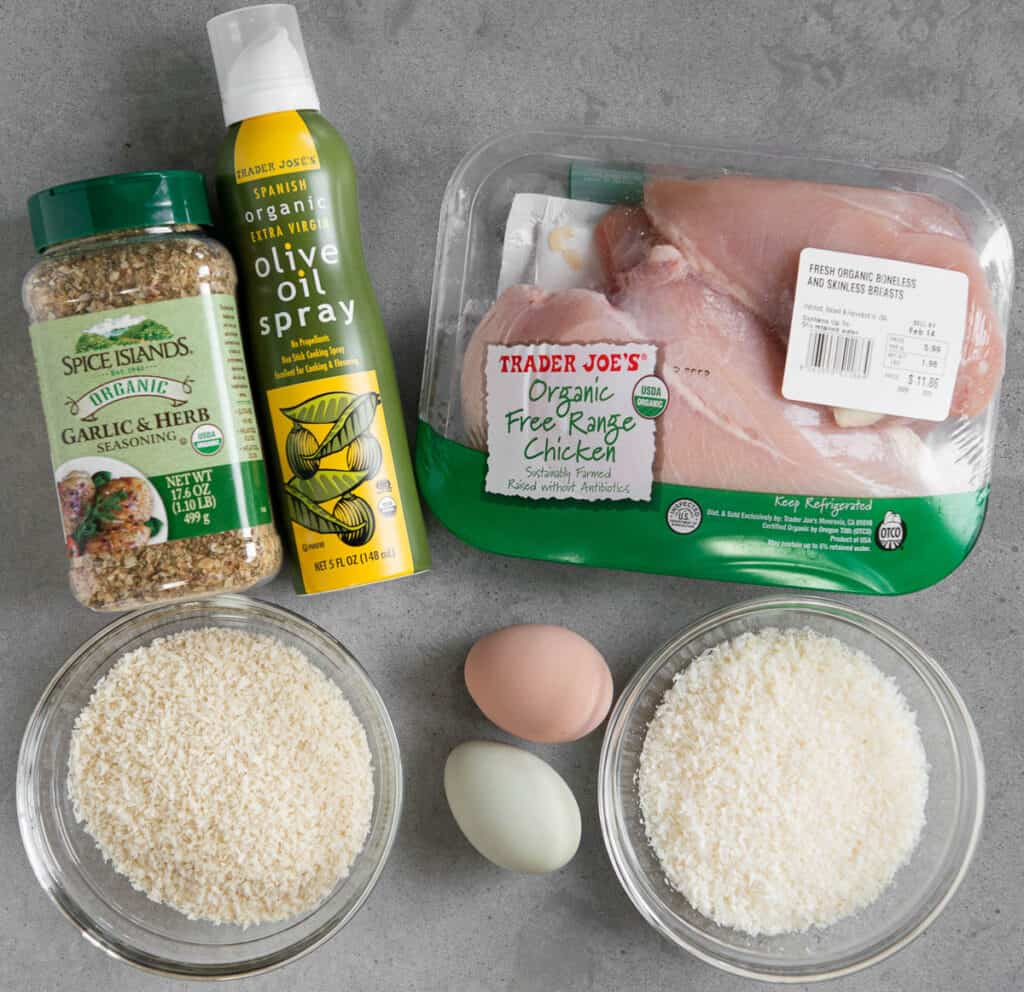 ingredients to make Air Fryer Chicken Tenders