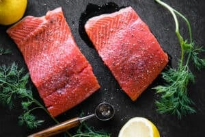 copper river salmon filets