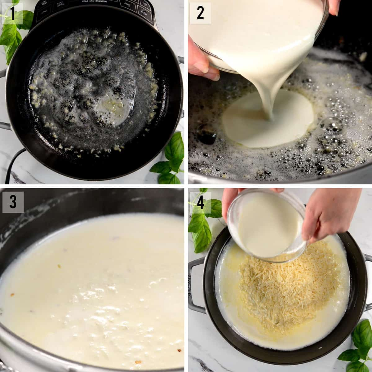 step by step photos of how to make alfredo sauce